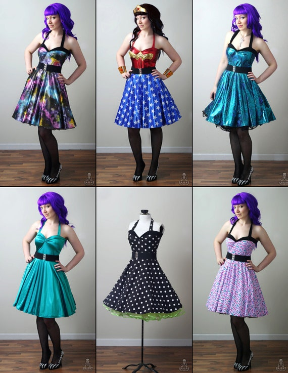 Rockabilly Retro Swing Dress Printable PDF Pattern
