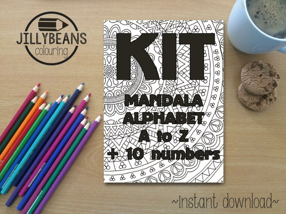 Colouring Pages Alphabet Printable : Colouring pages mandala alphabet letter and number