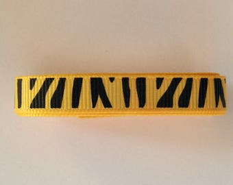 Yellow Ribbon with Black Stripes