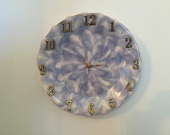Beautiful Swirling Blue Clock Plate !