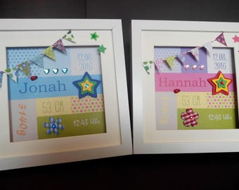 personalized gift for the birth, picture frame