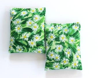 2 Lavender Sachets for Drawers, Green Field of Daisies, Unique Gifts for Women, Teacher, Mom