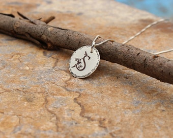 Initial necklace, personalized jewelry, letter necklace