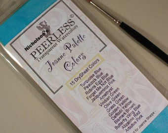 Peerless Watercolors~Joanne Palette Colors~15 Watercolor sheets ~Joanne Sharpe~ New Full Size Sheets~Complete Collection~Mountainside Crafts