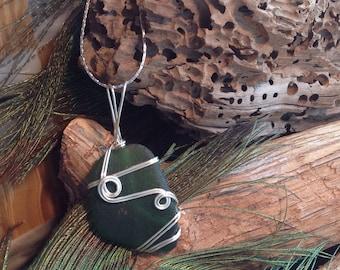 Sea Glass Necklace Sea Glass Jewellery, SeaGlass Geniune SeaGlass, Beach Wedding Jewelry, PEI SEA GLASS