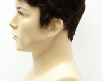 Brown Short Style Men's Wig. Synthetic Fashion Wig. [55-295-Simon-6]