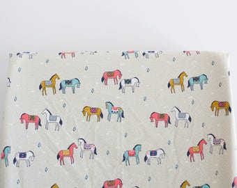 Boho Horses Changing Pad Cover