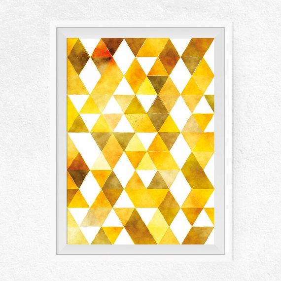 Yellow Scandinavian Printable Wall Art Modern Abstract Art