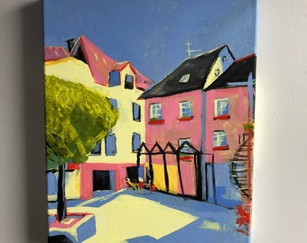 Cochem, Germany Painting   Acrylic on Canvas