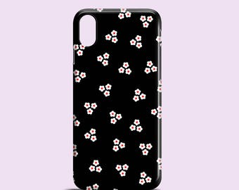 Black Daisies iPhone X case / iPhone 8 / floral iPhone 8 Plus / iPhone 7 / iPhone 7 Plus / iPhone 6/6S / iPhone 5/5S / iPhone SE floral