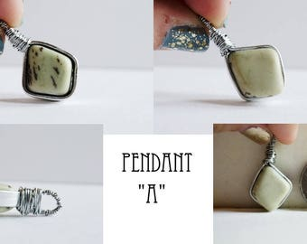 Dendritic Serpentine Pendant
