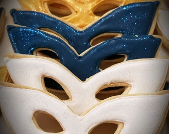 Glitter Mask Cookies per doz