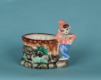 Vintage Elf Ceramic Planter
