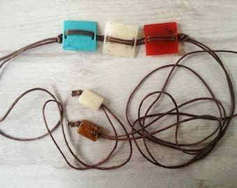 Plastic square belt vintage