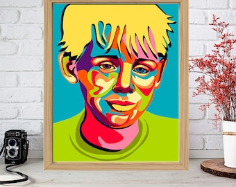 MACAULAY CULKIN Print - Colorful Poster Drawing Art - Kevin McCallister