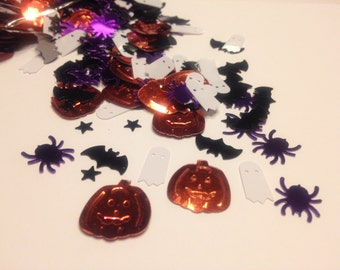 Halloween mix confetti / sequins , 12 - 20 mm (19)