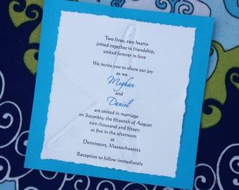 Starfish Wedding Invitation for Beach Wedding