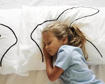 Easter Bunny Ears Rabbit Pillow, Easter Gift for Kids, Kids room decor, Easter Basket, Boy Gift, Girl Gift, animal print, Teen boy gift