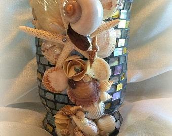 Under the Deep Blue Sea Seashell Vase