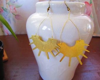 Bronze Sunshine handmade earrings