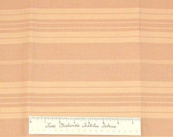 Stripe Fabric Beige Tan Neutral Thick Thin Line - Quilting Cotton YARDS