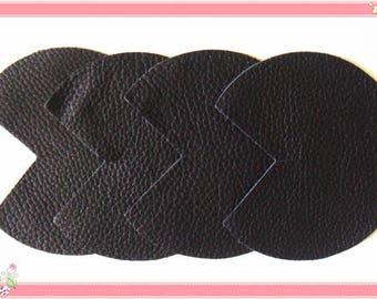 Bag bottom in genuine leather black