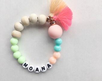 Personalized Moana Bracelet, Disney Jewelry, Disney Bracelet, Moana