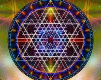 Arcturus, Original Mandala , Spiritual, Psychedelic, Shamanic, Ayahusaca Art, printed on archival photopaper