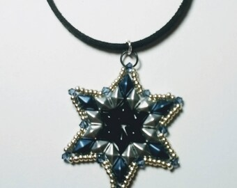 Six Pointed Star Pendant with Swarovski Crystals