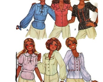 1970s Vintage Sewing Pattern - McCalls 5822 - Blouse Peter Pan