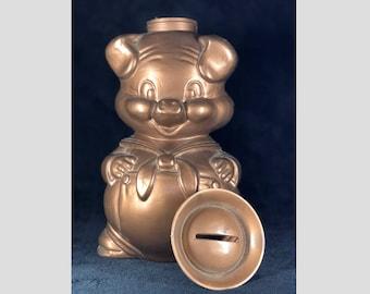 Vintage Copper Piggy Bank (Downey Ca. Savings Bank) Rare color