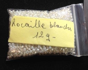 12G White seed beads