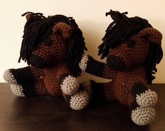 Crochet Amigurumi Bay Horse / Pony Stuffed Animal