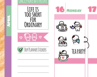 Munchkins - Tea Time! Planner Stickers (M154)