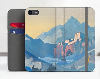 """Nicholas Roerich """"Stronghold of the Spirit"""" iPhone 8 Plus Wallet case Samsung Galaxy S7 Wallet case iPhone 7 wallet Phone cover. WC-NRO-04"""