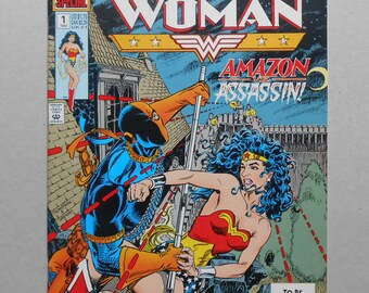 Wonder Woman # 1 ; Deathstroke; the Terminator; Wonder Woman # 1 Special;  Wonder Woman defeats Deathstroke the Terminator!  High Grade!