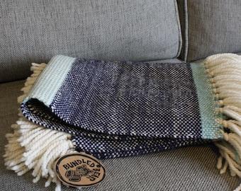 Handwoven Lap Blanket // Peruvian Wool Baby Blanket // Baby Shower Gift
