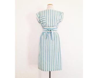 summer dress dina louise cotton sundress womens striped midi dress boat neck dress boatneck dress sleeveless tunic dress sun dress for women
