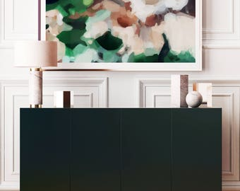 Large Abstract Art Print, Gracelia, 15x10-60x40, green abstract, landscape, neutral art