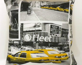 Yellow Taxi Cab Cushions with Fillers Various Sizes 28cm , 36cm, 43cm , 60cm