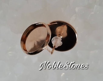 Stud Earrings Rosegold, for 12 mm cabochons