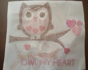 Rhinestuds and Rhinestone Owl