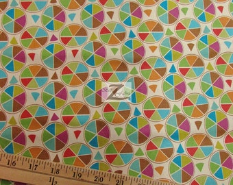 """Circle Frippery By Andover Fabrics 100% Cotton Fabric  - 45"""" Width Sold By The Yard (FH-793)"""