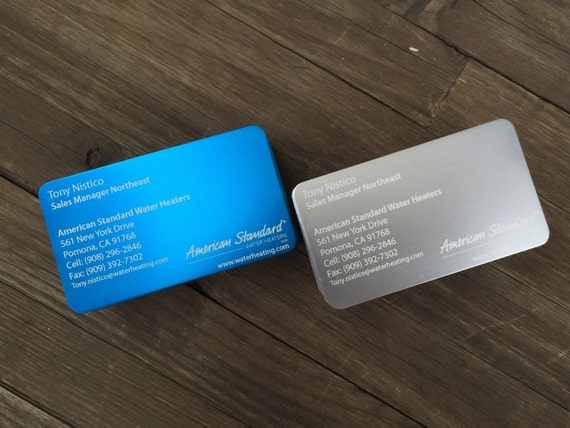 Thin metal business cards laser etched with your graphics thin metal business cards laser etched with your graphics logo colourmoves