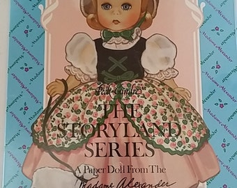 Vintage 1993 Madame Alexander Paper Doll Collection, The Storyland Series, never opened, shrinkwrap, near mint!