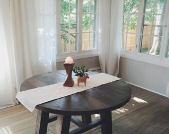 Grey-Wash Round Kitchen Table