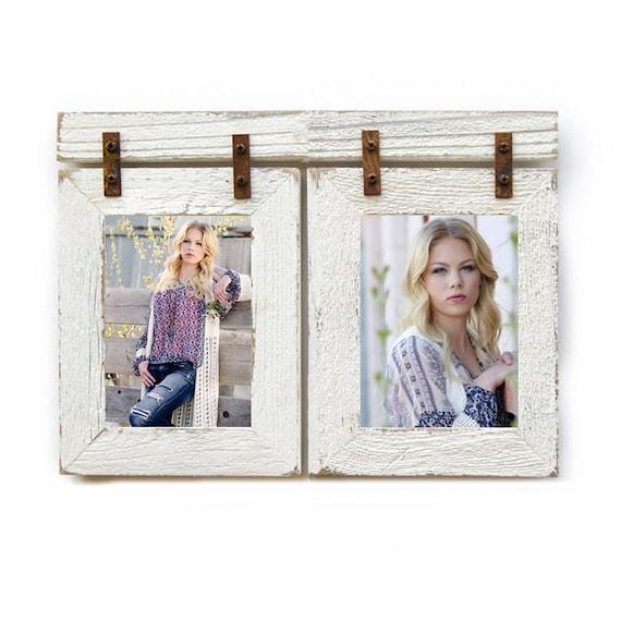4x6 Barnwood Collage White Frame 2 4x6 Multi Opening