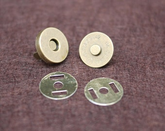 18mm Magnetic snaps antique bronze purse snaps closures - 50 Sets (0100-18B)