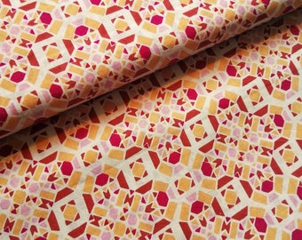 Organic Batiste cotton graphic pattern Red pink