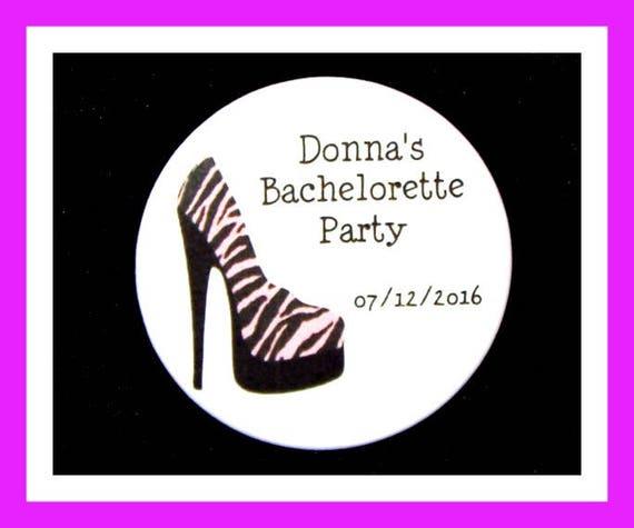 "Bachelorette Party Favors,Bridal Favors,Wedding Favors,Corset Favors,Bride To Be Favors,Personalized Button Pin - 2.25"" - Set of 10"